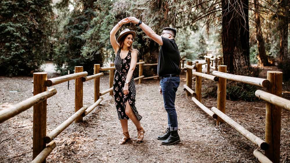 Proposal Couple Dancing