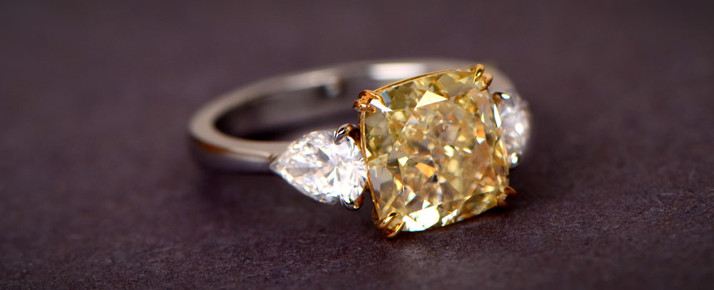 3 Carat Yellow Diamond Ring