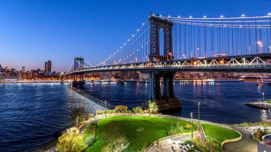 brooklyn bridge park ariel view