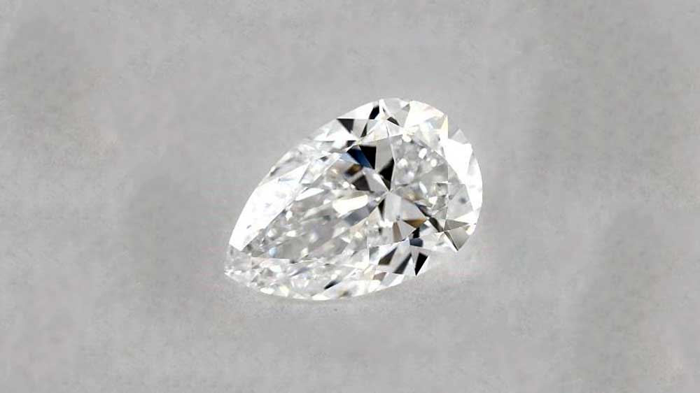 Brilliant Pear Shape Cut Diamond