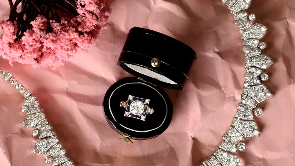 Denmark Engagement Ring with Necklace