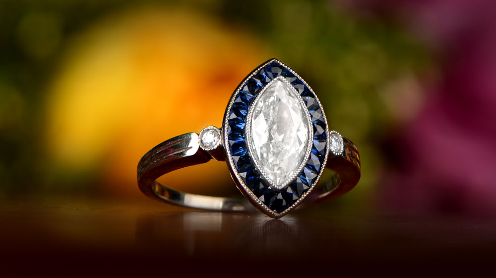 Engagement Ring Made with Platinum
