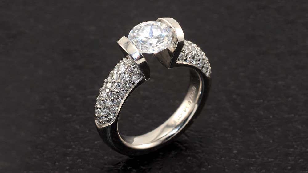 Tension Style Engagement Ring