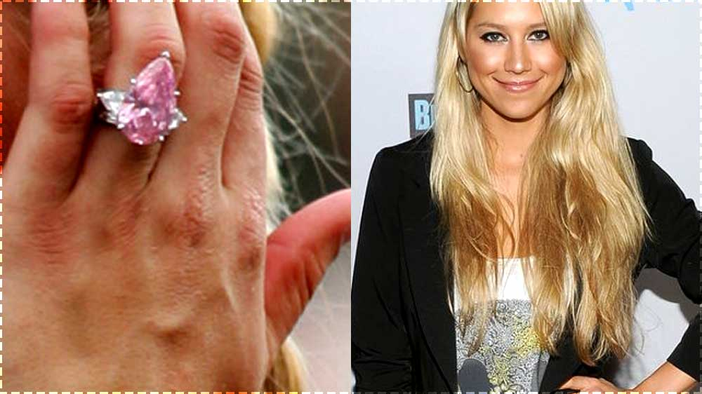 anna kournikova pink diamond engagement ring