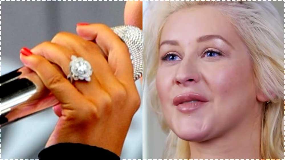 christina aguilera engagement ring