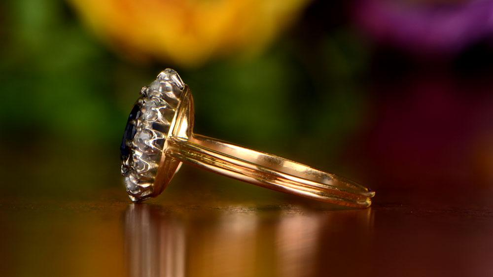 Yellow Gold Diamond Engagement Ring Artistic